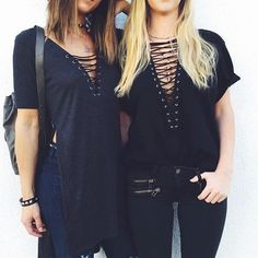 d11ba7d95e LF Emma   Sam Black Lace Up Tee BNWOT    ordered online and came without  tags