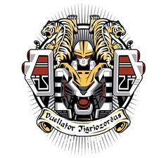 Duellator Tigriozordus T-Shirt $12 Power Rangers tee at Once Upon a Tee!