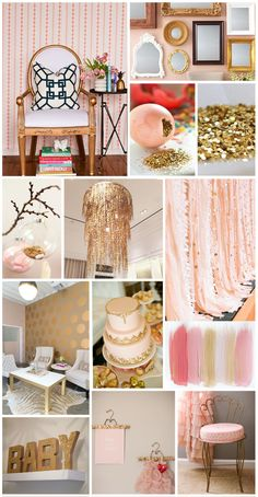blush and gold color inspiration