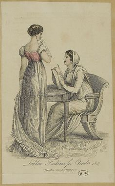 Two ladies in morning and evening dress, 1813