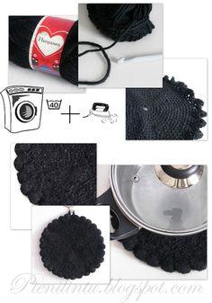 Pot holder Washer, Pot Holders, Diy Ideas, Knitting, Crochet, Crochet Hooks, Hot Pads, Tricot, Breien
