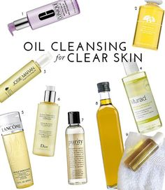 How To: Oil Cleansing For Clear Skin Homemade mixture of 90% olive oil and 10% castor oil for dry skin, (80/20 for normal skin)