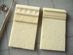 impressing patterns on Kapa foam core board