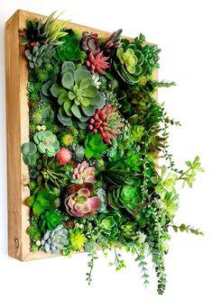 Moss Wall Art, Moss Art, Diy Wall Art, Wall Decor, Artificial Plant Wall, Artificial Succulents, Faux Succulents, Exotic Plants, Tropical Plants