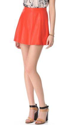 Love Leather Starburst A Line Mini Skirt 231.00