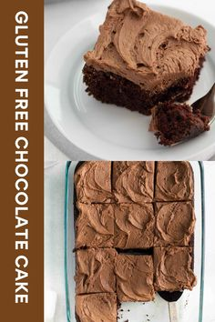 This fluffy, moist gluten-free chocolate cake piled high chocolate buttercream frosting is so easy to make! It's sure to become your new go-to recipe. #glutenfree #chocolatecake #glutenfreecake Gluten Free Cakes, Gluten Free Desserts, Gluten Free Recipes, Gluten Free Chocolate Cake, Chocolate Cake Recipe Easy, Chocolate Buttercream Frosting, Easy Cake Recipes, Glutenfree, Sweet Treats