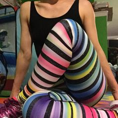 The most beautiful vibrant colours -- get yours before they are gone! Silver Icing, Sale Sites, Vibrant Colors, Colours, Spectrum, You Got This, Most Beautiful, Rainbow, Leggings