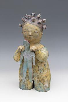 Self Study, ceramic sculpture by Sara Swink