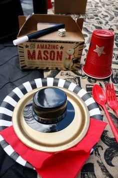 Magic Themed Boys Birthday Party Table Set Up Ideas