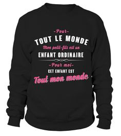 Mon petit fils - tout mon monde !  #gift #idea #shirt #image #mother #father #mom#dad #son #papa #suppermom #supperfather #coffemugs