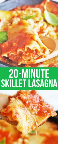 Try this delicious and hearty skillet lasagna easily made in under half hour – perfect for busy weeknights!