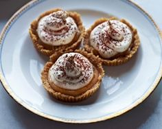 These chewy banana toffee delights with mousse are a lighter play on the original - a banana lovers delight. Pie Recipes, Dessert Recipes, Cooking Recipes, Desserts, Banana Mousse, Good Food Channel, Banoffee Pie, Sweet Pie, Mini Pies
