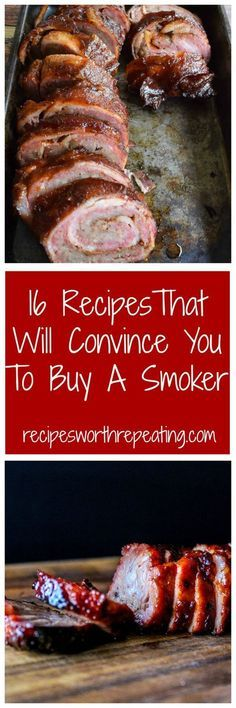 Who's smoking for the upcoming holidays? Thanksgiving, Christmas and New Years - I have the BEST smoker recipes! I've got 16 smoker recipes that I guarantee will make you want to buy a smoker so you can smoke all year round! Traeger Recipes, Smoked Meat Recipes, Grilling Recipes, Pork Recipes, Recipies, Barbecue Recipes, Chicken Recipes, Pellet Grill Recipes, Electric Smoker Recipes