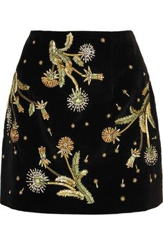 Brunswick Velvet Mini Skirt by Unique - Skirts - Clothing - Topshop Europe Black A Line Skirt, A Line Mini Skirt, Going Out Skirts, Velvet Mini Skirt, Embellished Skirt, Embroidered Skirts, Metallic Skirt, Gold Skirt, Topshop Unique