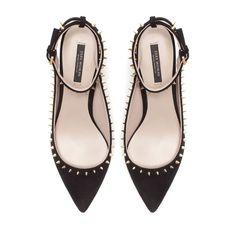STUDDED SLING BACK - Shoes - Woman - ZARA Indonesia,  hiksss i want this o_O