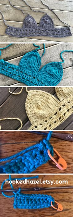 Create your own boho bralette with this easy to follow crochet tutorial.  Beginner level includes pictures and written instructions. #crochetpatterns