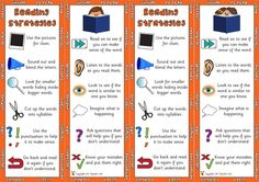 A great template for a reading strategy bookmark. These are some of the more popular strategies that I incorporated into my own reading strategy bookmark.