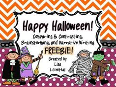 FREEBIE! Your students will enjoy brainstorming, comparing and contrasting, and narrative writing with this fun Halloween freebie.