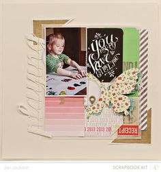 Made with @Studio Calico February kit and add-ons, Front Row!