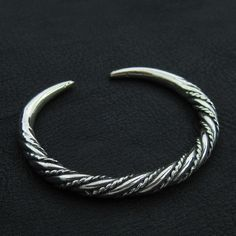 Silver Viking bracelet by Sulik on Etsy