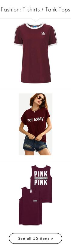 """""""Fashion: T-shirts / Tank Tops"""" by katiasitems on Polyvore featuring tops, t-shirts, 0 roupas, purple t shirt, purple top, purple tee, cotton tee, cotton t shirts, burgundy and summer t shirts"""