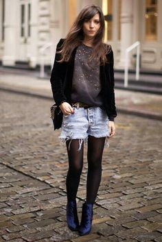Betty Autier Short En Jean, Get The Look, Fashion Bloggers, Sexy Outfits, Jeans, Casual Looks, Catwalk, Style Me, Fashion Inspiration