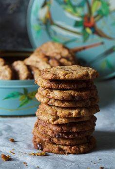 Maailman parhaat suklaacookiet - Onpa helppo ohje No Bake Cookies, Baking Cookies, Cereal, Deserts, Sweets, Chocolate, Eat, Breakfast, Recipes