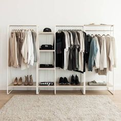 Amazing Awesome DIY Small Bedroom Design Ideas With Close Clothing Rack Diy Wardrobe, Wardrobe Design, Wardrobe Rack, Ikea Open Wardrobe, Wardrobe Storage, Wooden Clothes Rack, Rack Of Clothes, Clothes Rack Bedroom, No Closet Solutions