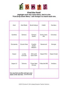 My Weekly Schedule--A Microsoft Word Activity for Grades 6-8 ...