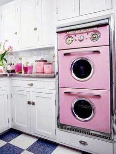 retro kitchen appliances |  atomic ranch house: 1950's pink