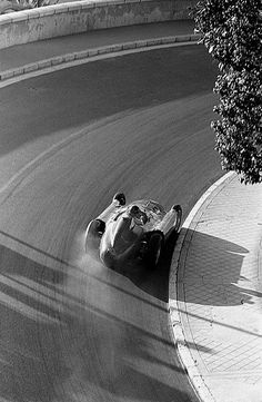 "russianspies: "" the-last-hairbender: "" Juan Manuel Fangio in a Lancia-Ferrari at the 1956 Monaco GP "" "" Classic Motors, Classic Cars, Vintage Racing, Vintage Cars, Sport Cars, Race Cars, Gilles Villeneuve, Monaco Grand Prix, Formula 1 Car"
