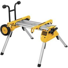 DEWALT Aluminum Rolling Table Saw Stand at Lowe's. The DEWALT Rolling Table Saw Stand has a lightweight design, weighing only 33 lbs. The heavy-duty kickstand allows the stand to balance upright Best Miter Saw Stand, Mitre Saw Stand, Best Table Saw, Diy Table Saw, Dewalt Table Saw Stand, Scie Diy, Jobsite Table Saw, Table Saw Station, Table Saw Accessories