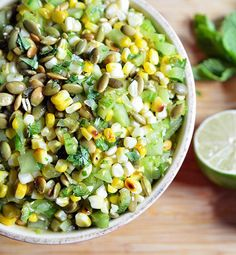Succotash-Style Corn and Green Tomato Salad