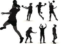 Vectores libres de derechos: Handball