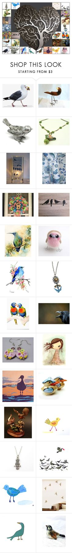 """""""Bird Tree on Etsy ~ Treasury Team"""" by brianna-anzalone ❤ liked on Polyvore featuring Goebel and vintage"""