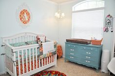 Teal and Orange Vintage Nursery