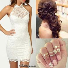 The top half is ideal for my actual wedding dress. Love the lace and the halter look.