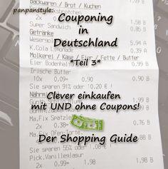 panpancrafts: panpanstyle: Couponing in Deutschland - Teil 3 - Der Shopping Guide
