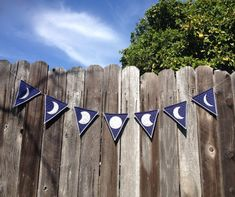 Items similar to Handmade Moon Phase Banner on Etsy Bunting Banner, Banners, Pennant Template, Cozy Den, Altar Cloth, Prayer Flags, Virtual Baby Shower, Create Website, Moon Phases