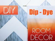 DIY Dip Dye Wall Art | Dorm Room Decor | Robeson Design