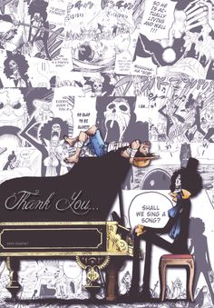 Thank you/Luffy,Brooks/One piece Zoro Nami, Roronoa Zoro, Samurai, Brooks One Piece, Best Anime Shows, The Pirate King, 0ne Piece, Cosplay, One Piece Manga