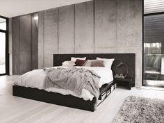 Discover modern and contemporary bedroom design in our inspiration furniture range at BoConcept. Contemporary Bedroom Furniture, Bedroom Furniture Design, Bed Furniture, Bedroom Decor, Boconcept, Interior Concept, Interior Design, Concrete Bedroom, Concrete Walls