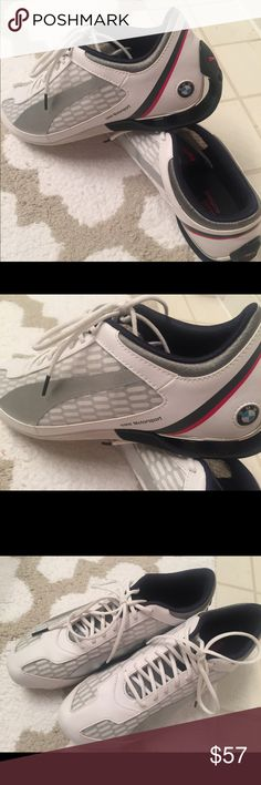 Puma BMW Motorsport driving shoe sneaker Brand new. Worn once. Puma BMW Motorsport driving shoe. Breathable and stylish. These are MEN's but Ladies-I wear a size 9 normally and these 8.5 fit me!!! Puma Shoes