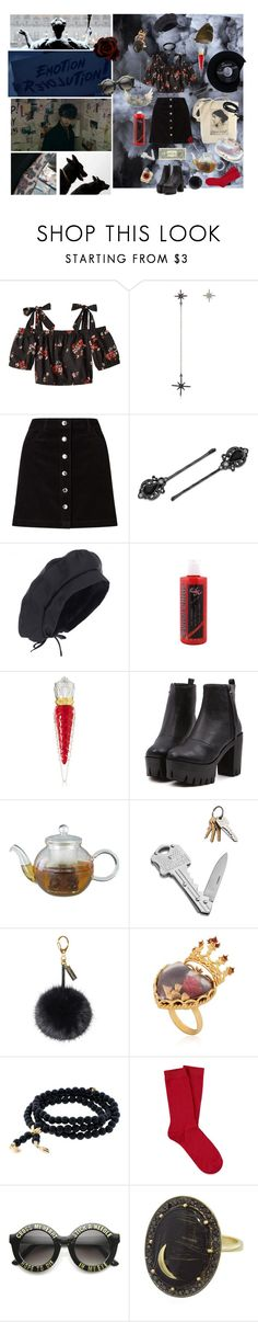 """Be aware of the corrupt truth"" by lhv085 ❤ liked on Polyvore featuring Federica Tosi, Miss Selfridge, Pupa, 1928, Christian Louboutin, Helen Moore, Dolce&Gabbana, Tamara Comolli, CHESTERFIELD and Forever 21"