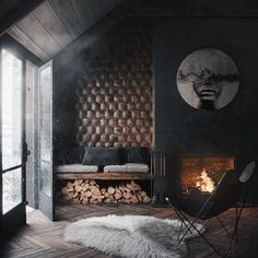 Beautiful interior What do you think? Visualised by From Kyiv, . - Home Design Interior Design Examples, Interior Design Inspiration, Decor Interior Design, Interior Decorating, Design Ideas, Design Loft, House Design, Home Interior, Luxury Interior