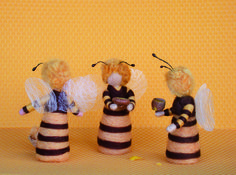 """Bee Children"" from Magic Wool Mermaids, Fairies and Nymphs Through the Seasons by Christine Schafer"
