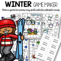 Do you have a hard time finding a game to review the skill that you are working on? Do you have a hard time getting kids to stay focused around the holiday's? Look no further. This make -your- own editable game is just what you need! You get five Winter