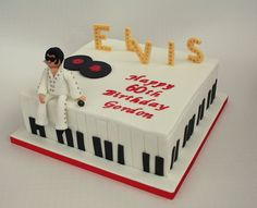 Elvis Cakes, Elvis Presley Cake, 10th Birthday Parties, 70th Birthday, Birthday Cakes, Cake Cookies, Cupcake Cakes, Cupcakes, Music Cakes