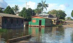 Cheia do Rio Negro já atingiu 72% dos municípios do Amazonas.