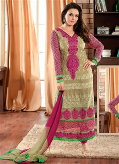 CHARMING BEIGE & PINK SALWAR KAMEEZ  PRODUCT CODE: FB0489 AVAILABILITY: In Stock  ₹ 4125.00